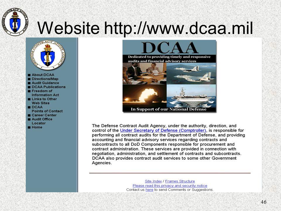 46 Website http://www.dcaa.mil