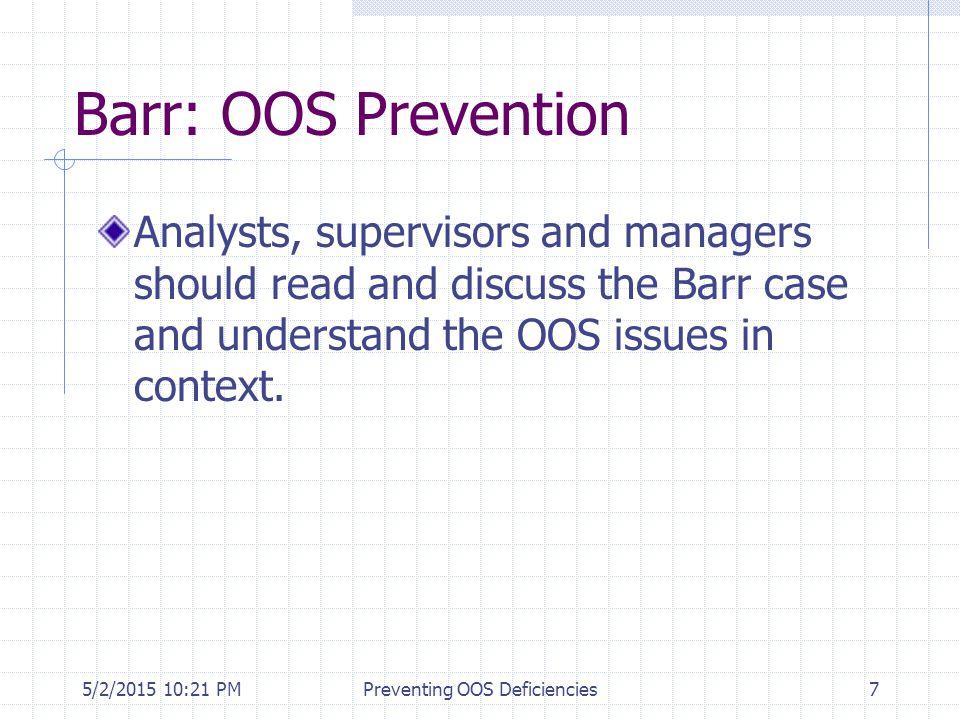 5/2/2015 10:35 PMPreventing OOS Deficiencies58 Common vs.