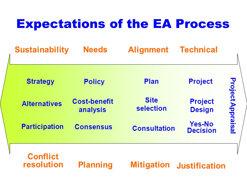 Sustainability Conflict resolution Alternatives Participation Strategy Needs Planning Cost-benefit analysis Consensus Policy Alignment Mitigation Site