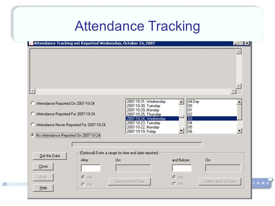 20 Attendance Tracking