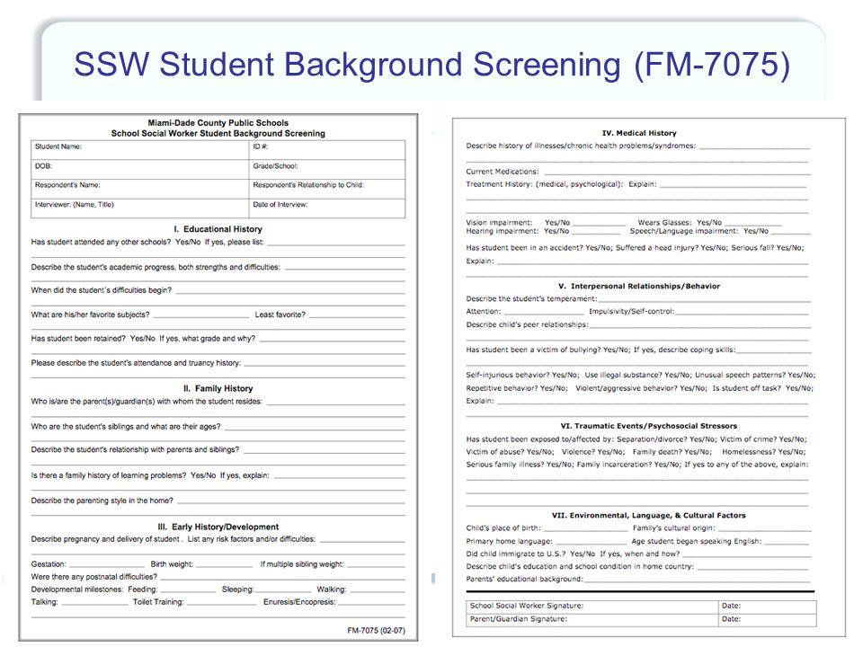 48 SSW Student Background Screening (FM-7075)