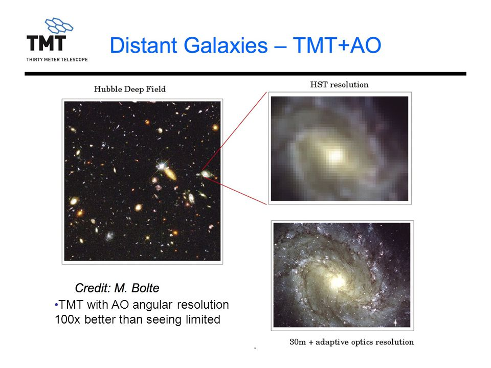 GTC 2009Jul2516 Distant Galaxies – TMT+AO Credit: M.