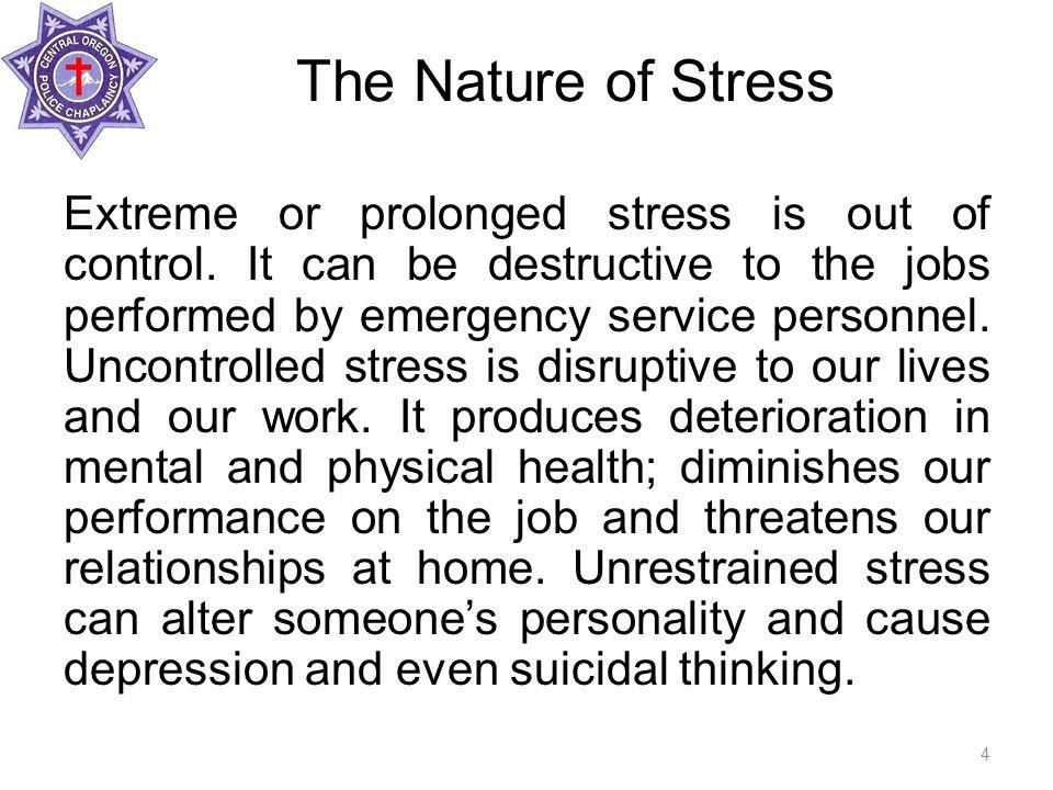 Cumulative Stress: Destructive Cumulative stress is a pile-up of unresolved general stress; it is abnormal and destructive.