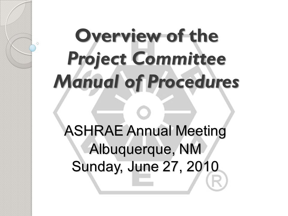 PC Procedures Upon Publication Section 9 : Discharge of PC If ANSI approval is obtained or the standard is printed as an ASHRAE standard, the SPC (or GPC) will be discharged unless extended (e.g., to prepare an early addendum) SPC (or GPC) may recommend that an SSPC (or SGPC) be established.