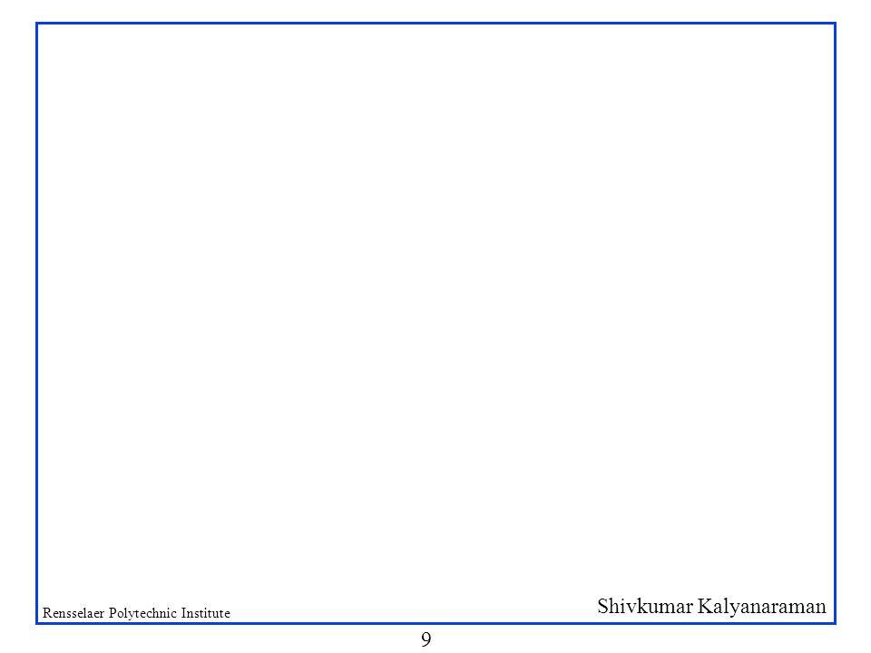 Shivkumar Kalyanaraman Rensselaer Polytechnic Institute 9