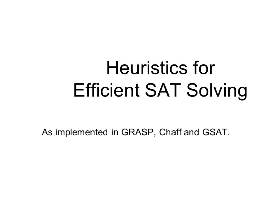 Why SAT.