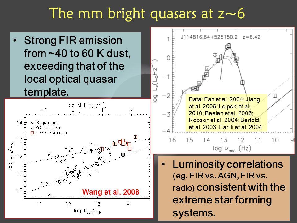 Luminosity correlations (eg. FIR vs. AGN, FIR vs.