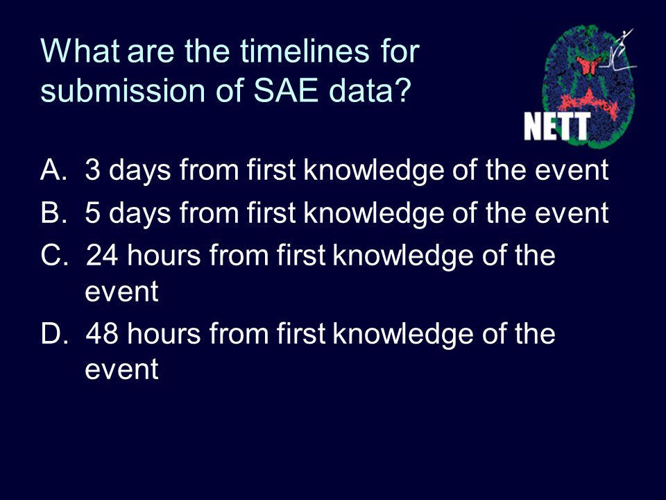 What are the timelines for submission of SAE data.