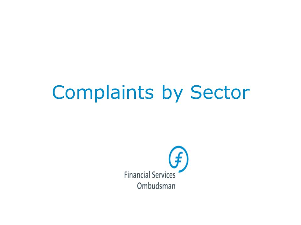 Complaints by Sector