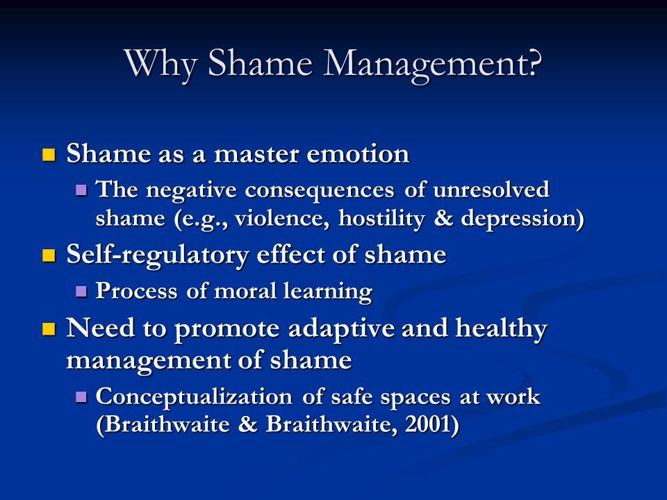 Why Shame Management.