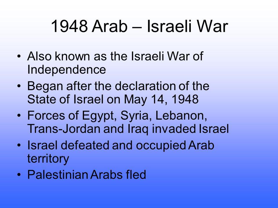 Territorial gains in the Arab-Israel War