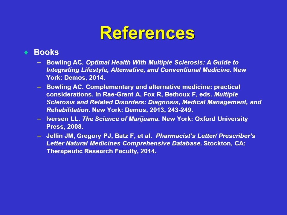 References   Books – –Bowling AC.