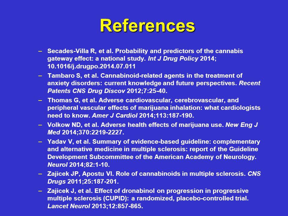 References – –Secades-Villa R, et al.