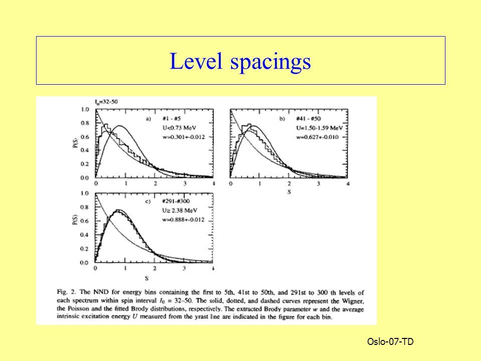 Oslo-07-TD Level spacings