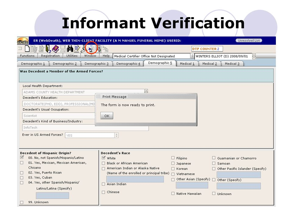 Informant Verification