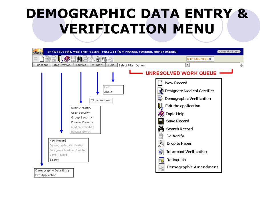 Demographic Data Entry Screen - 4