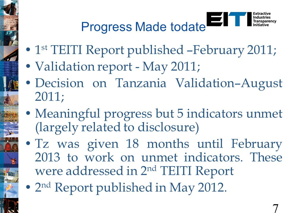 1 st TEITI Report Key Findings Government receipts total Tzs 128.4bn Companies paymentsTzs 174.9 bn Discrepancy of Tzs 46.5 bn –Royalty (solid minerals) = -22.3 billion –Fuel levy = -18.6 billion 8