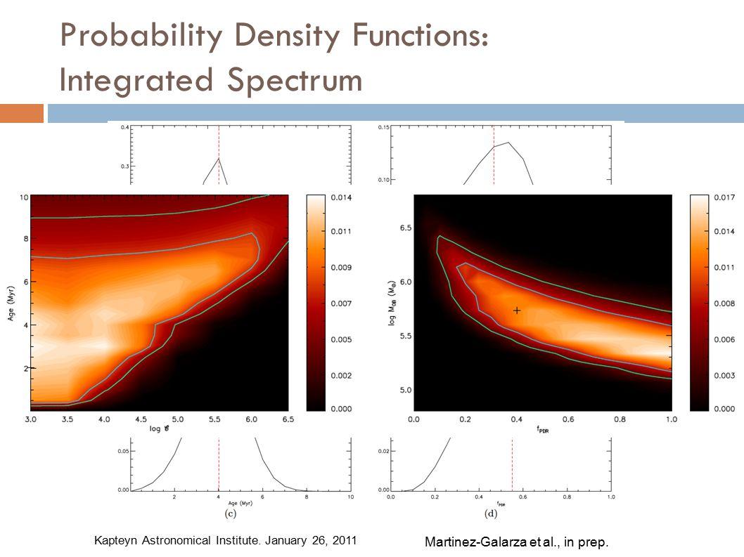 Probability Density Functions: Integrated Spectrum Martinez-Galarza et al., in prep.