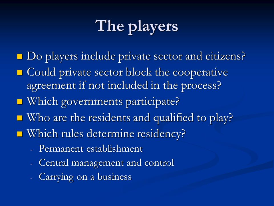 The payoffs What do govts maximize: What do govts maximize: ---- welfare of their citizens.