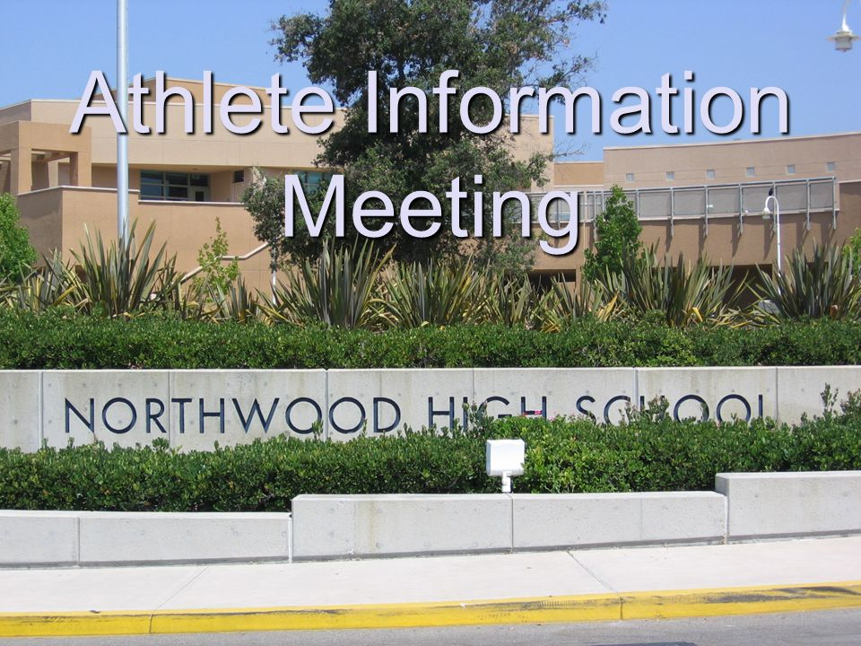 Athlete Information Meeting