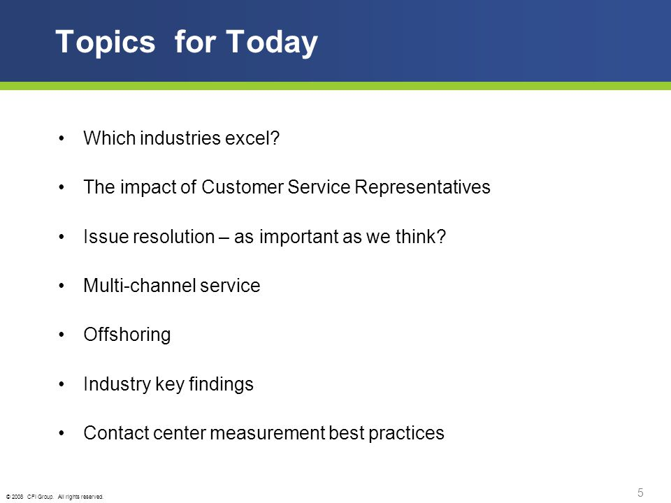 © 2008 CFI Group.All rights reserved. 16 Offshoring Contact Centers 2008 vs.