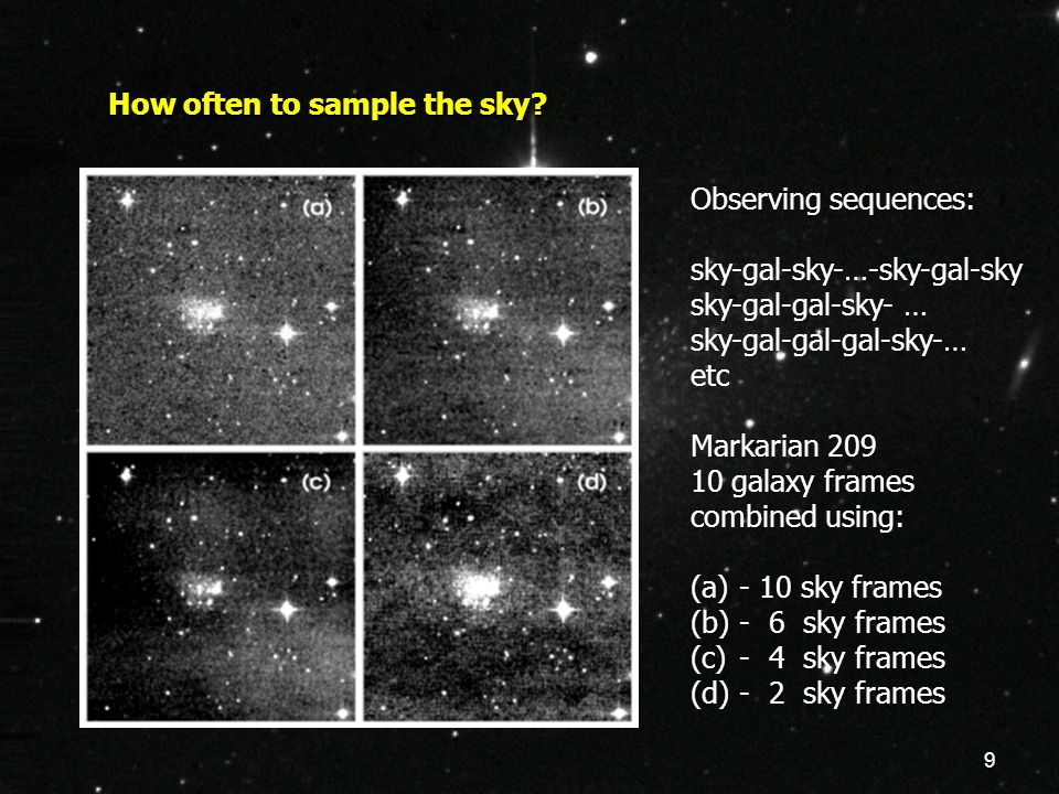 9 How often to sample the sky.