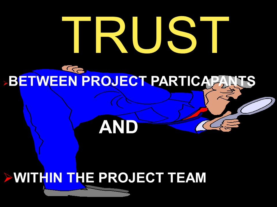TRUST  BETWEEN PROJECT PARTICAPANTS AND  WITHIN THE PROJECT TEAM
