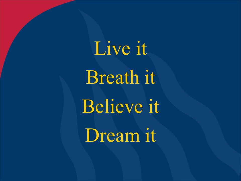 Live it Breath it Believe it Dream it