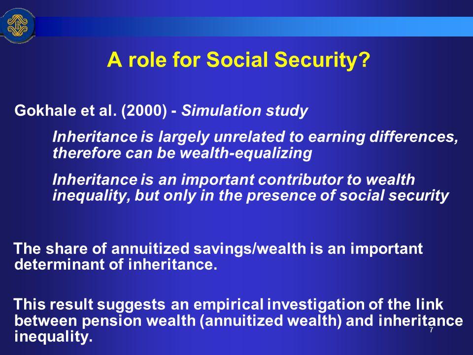 7 A role for Social Security. Gokhale et al.