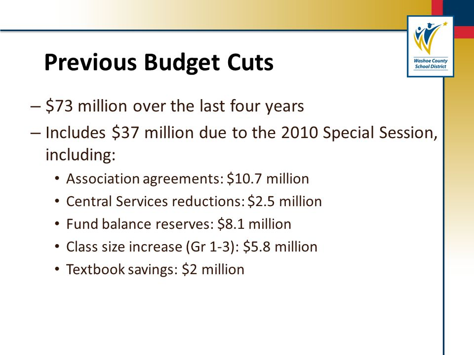 – $73 million over the last four years – Includes $37 million due to the 2010 Special Session, including: Association agreements: $10.7 million Centra