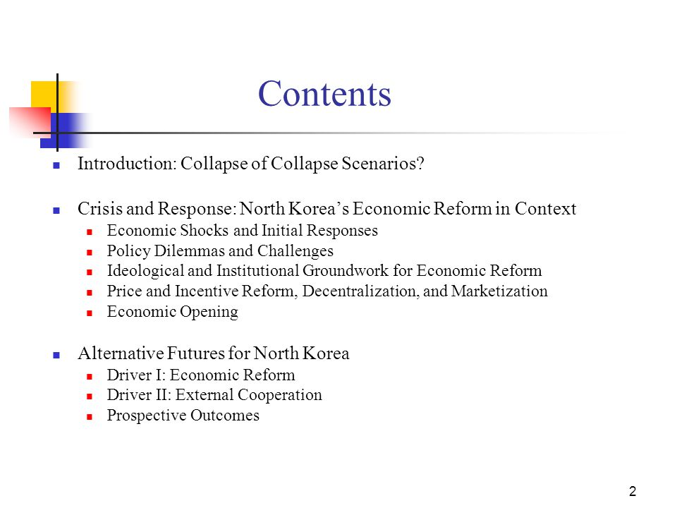 2 Contents Introduction: Collapse of Collapse Scenarios.