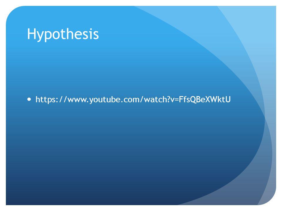 Hypothesis https://www.youtube.com/watch?v=FfsQBeXWktU