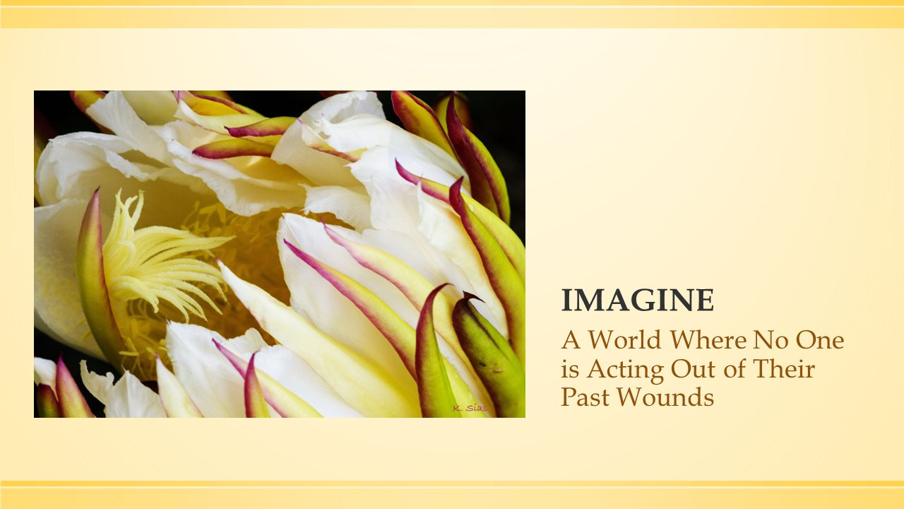 IMAGINE A World Where No One is Acting Out of Their Past Wounds