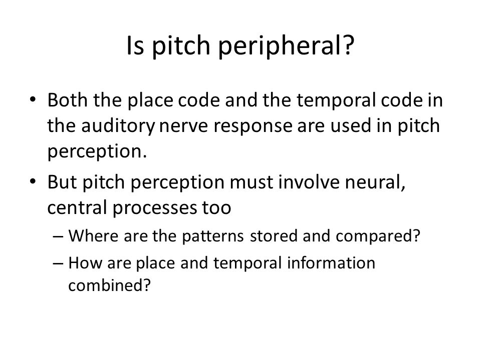Is pitch peripheral.