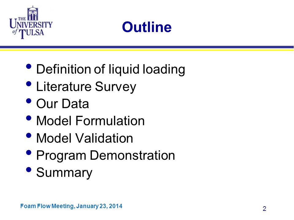 Foam Flow Meeting, January 23, 2014 53 Veeken's Data Veeken reported offshore wells with larger tubing size.