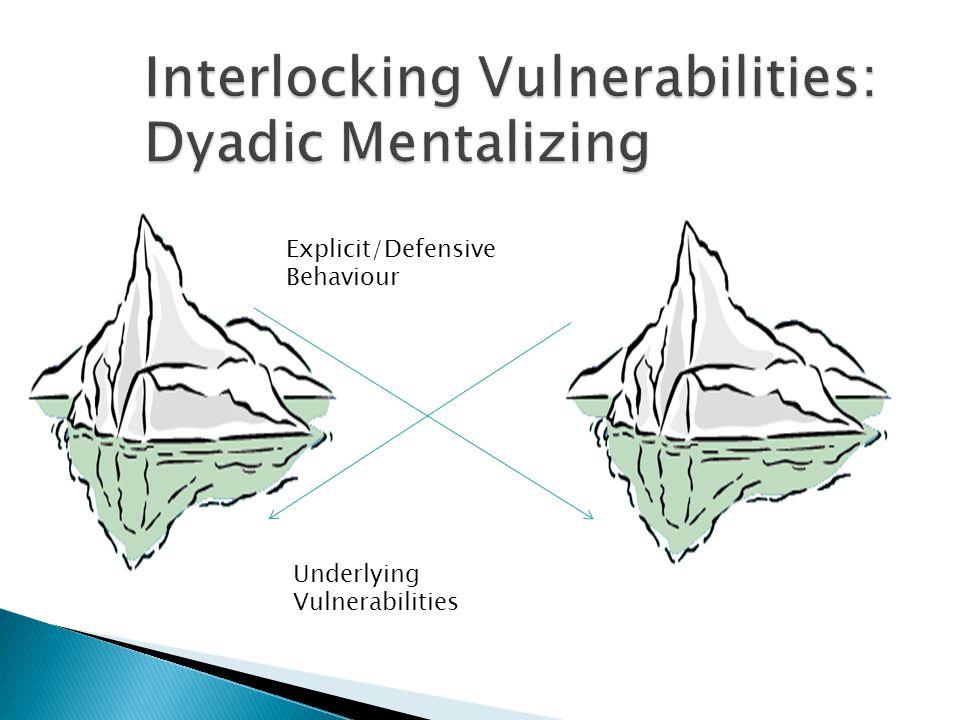 Explicit/Defensive Behaviour Underlying Vulnerabilities