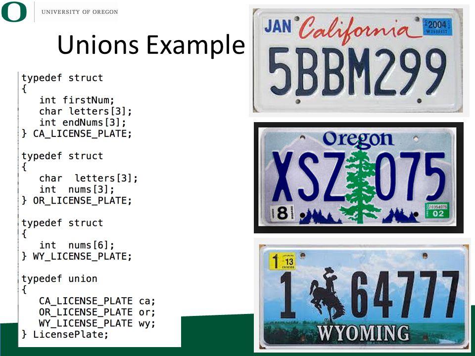 Unions Example
