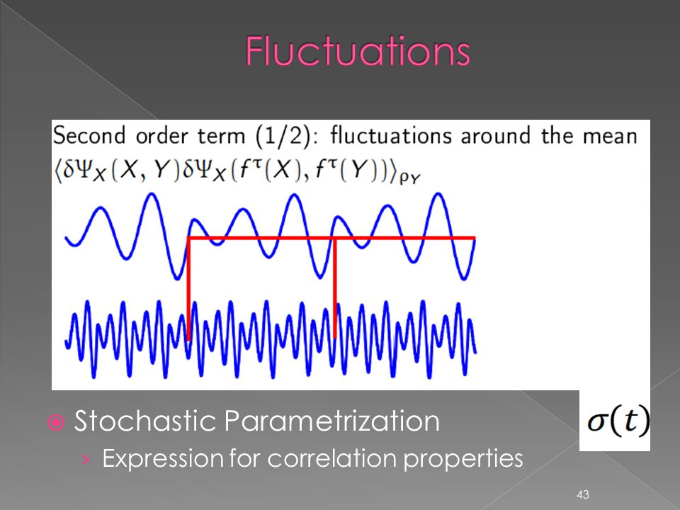 43  Stochastic Parametrization › Expression for correlation properties