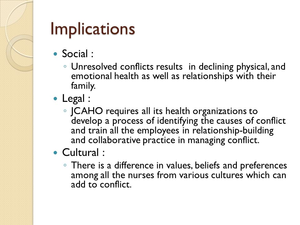 What are nursing professionals saying about conflict management.