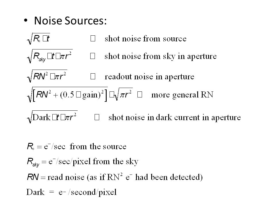 Noise Sources:
