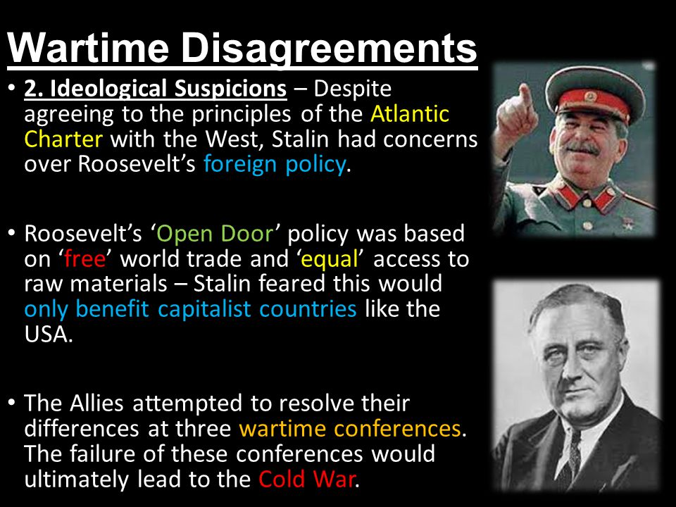 What were the goals and principles of the Grand Alliance conferences during and after WW2?