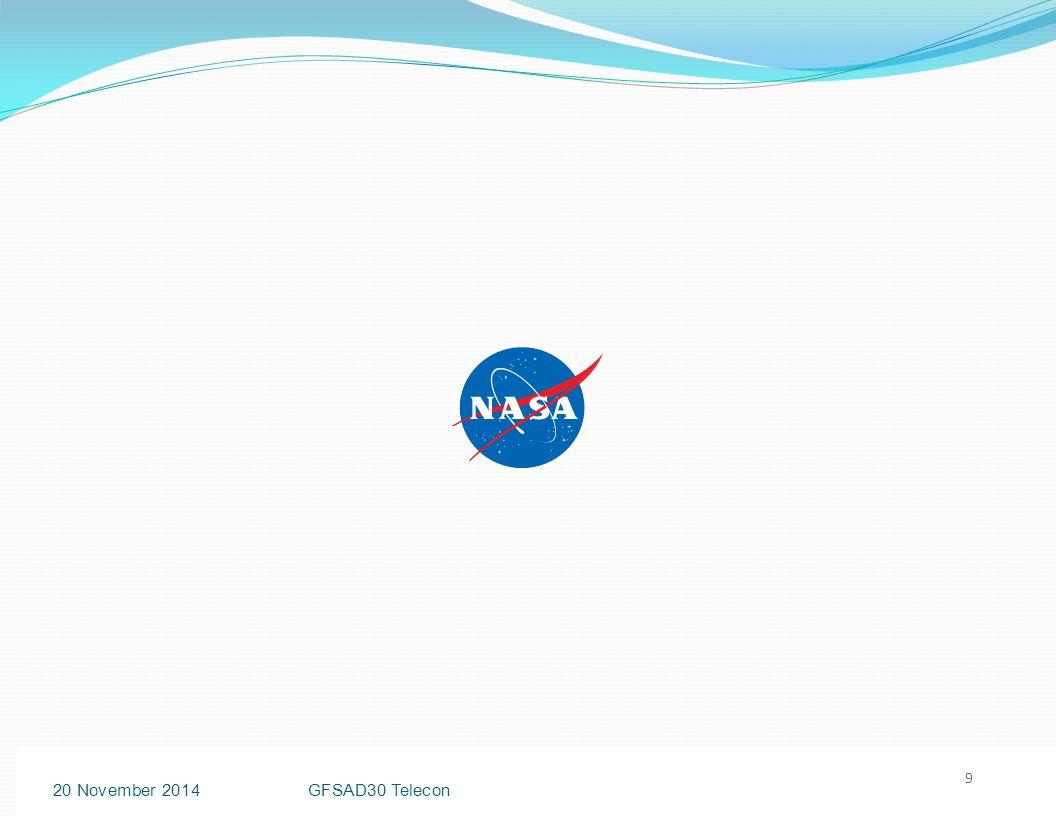 SignOffPage 9 9 20 November 2014GFSAD30 Telecon