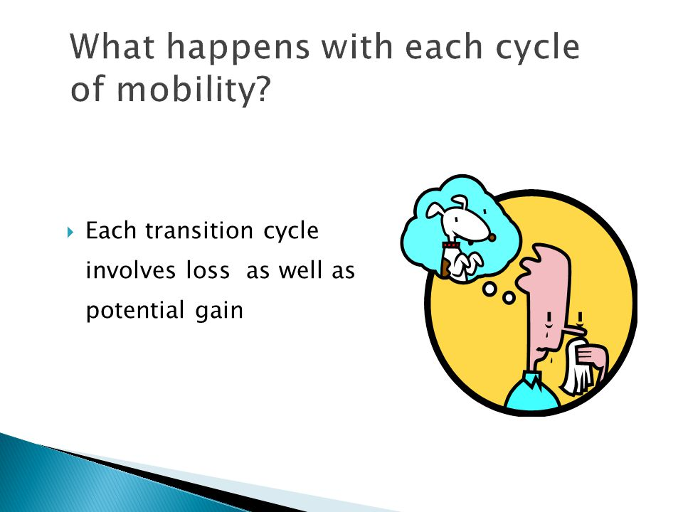  Each transition cycle involves loss as well as potential gain