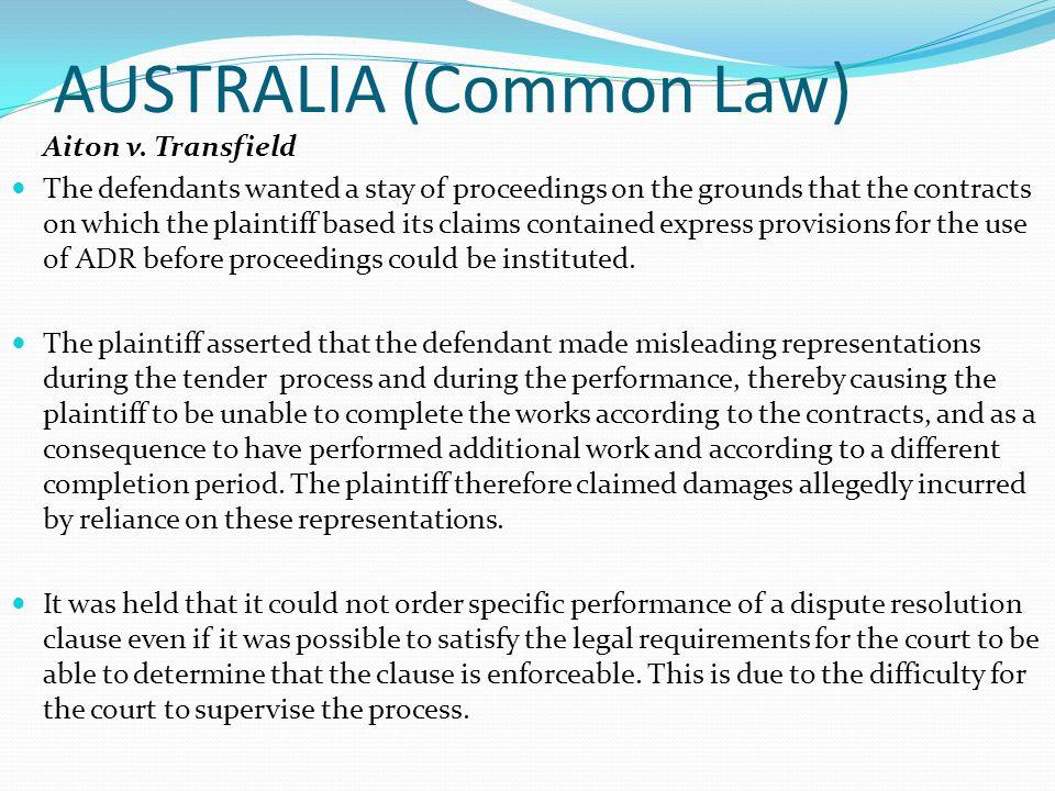 AUSTRALIA (Common Law) Aiton v.