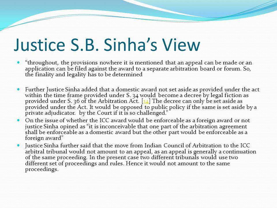 Justice S.B.