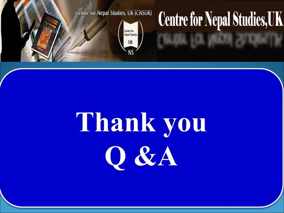 Thank you Q &A Thank you Q &A