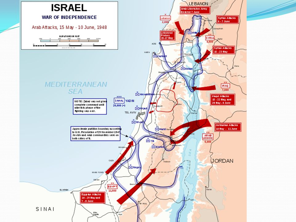 Left map: Israel (1947) Right map: Israel (1949)