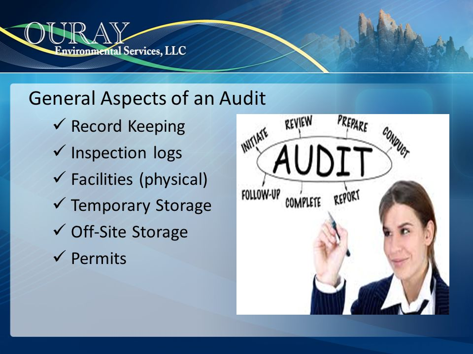 Benefits of an Self-Audit Voluntary audit programs play an important role in helping companies meet their obligation to comply with environmental requirements.