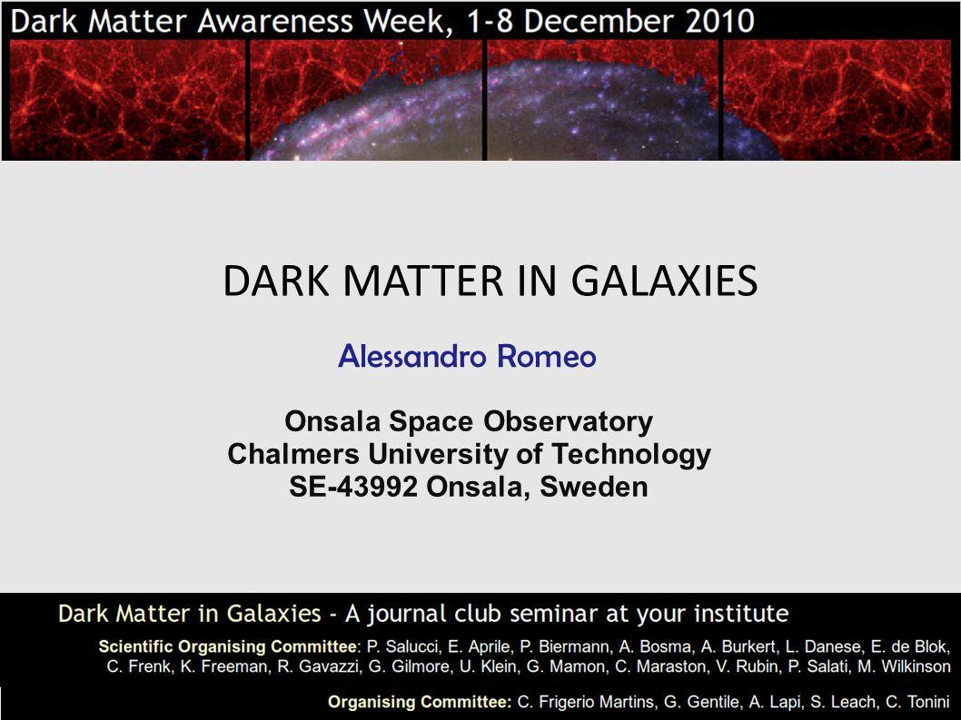 Overview Dark matter in SPIRALS Dark matter in ELLIPTICALS Dark matter in DWARF SPHEROIDALS Detecting dark matter Conclusions