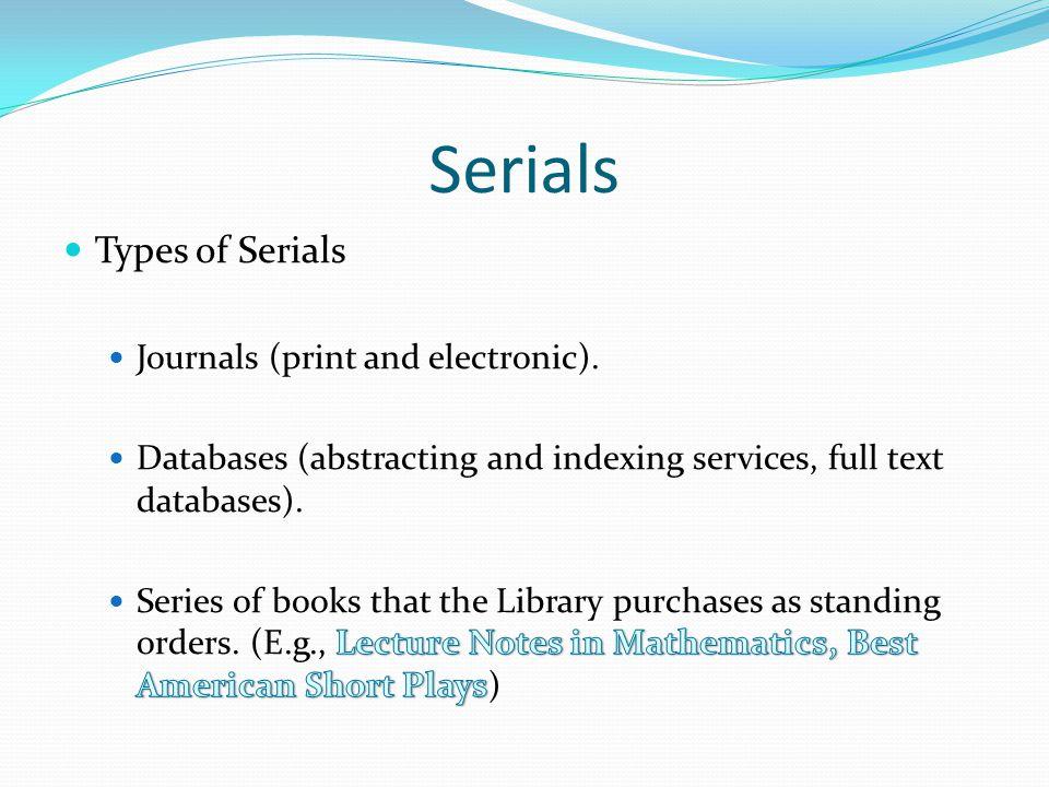 Serials
